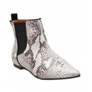 Schutz Snakeskin Chelsea Boots